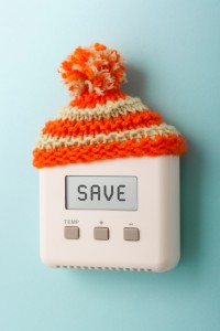 SAVE on digital room thermostat wearing woolly hat